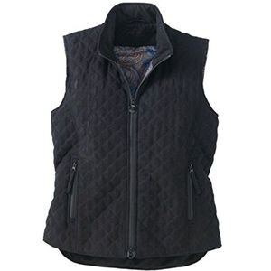 1X Outback Trading Grand Prix Quilted Vest, Black